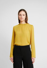 Another-Label - PYRAMIDES HAIRY DOT - Blouse - green sulphur - 0