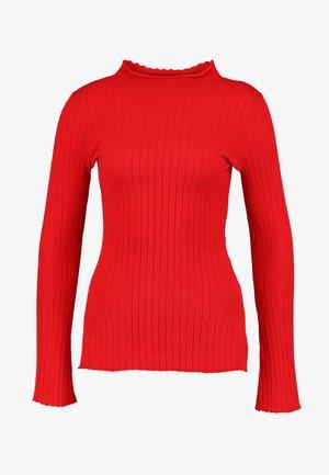 MILES - Stickad tröja - chinese red