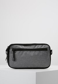 anello - SQUARE FLAP CROSS BODY - Skuldertasker - black grey - 2