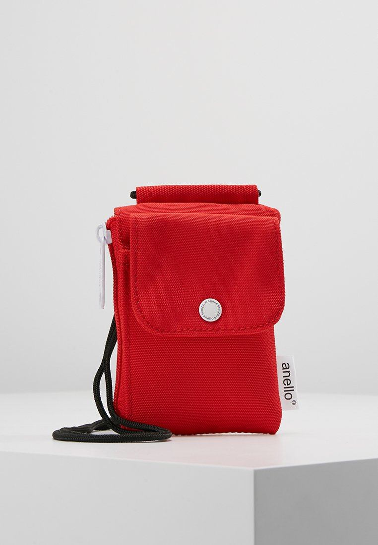 anello - SQUARE NECK POUCH - Across body bag - red