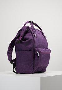 anello - TOTE BACKPACK MELANGE - Rygsække - purple - 3