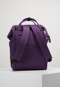 anello - TOTE BACKPACK MELANGE - Rygsække - purple - 2