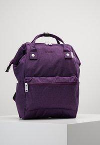 anello - TOTE BACKPACK MELANGE - Rygsække - purple - 0