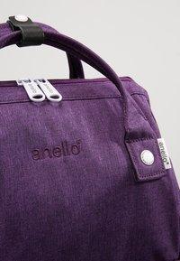 anello - TOTE BACKPACK MELANGE - Rygsække - purple - 7