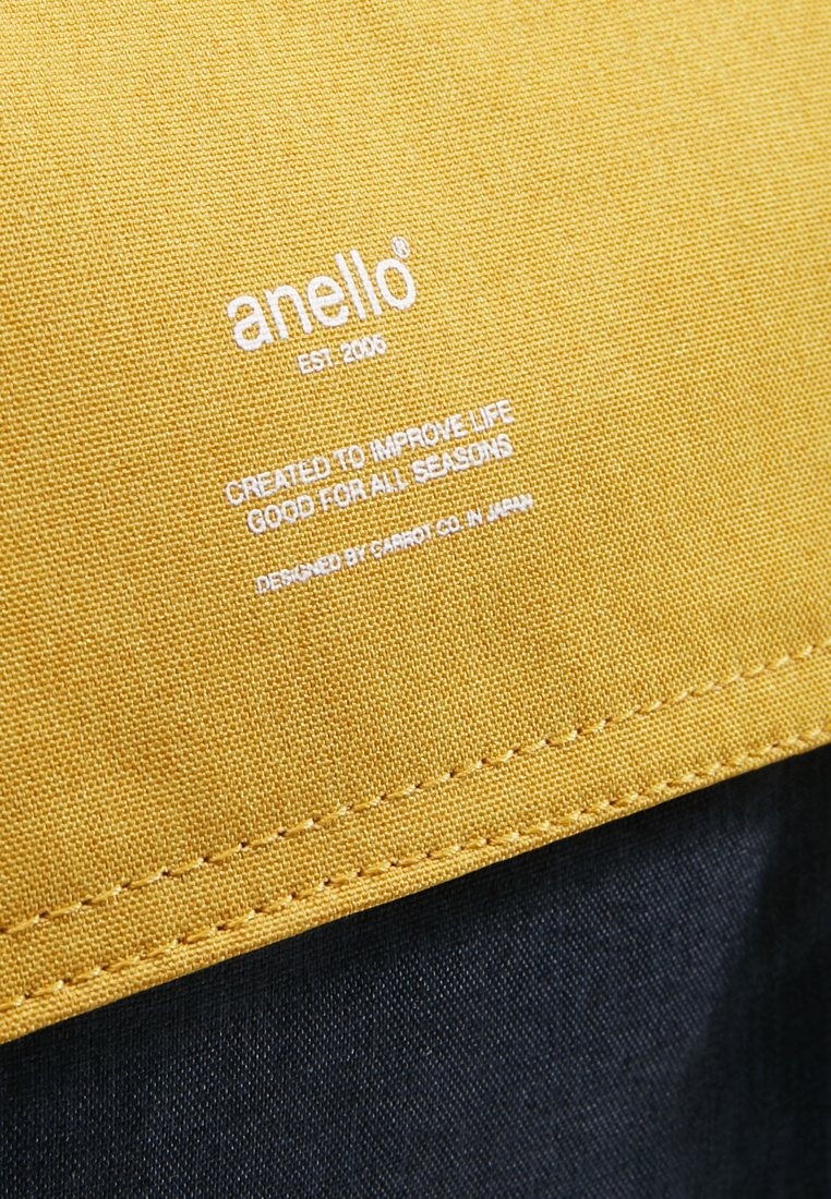 Anello Slim Flap Backpack - Sac À Dos Navy/yellow F8lWKDJ