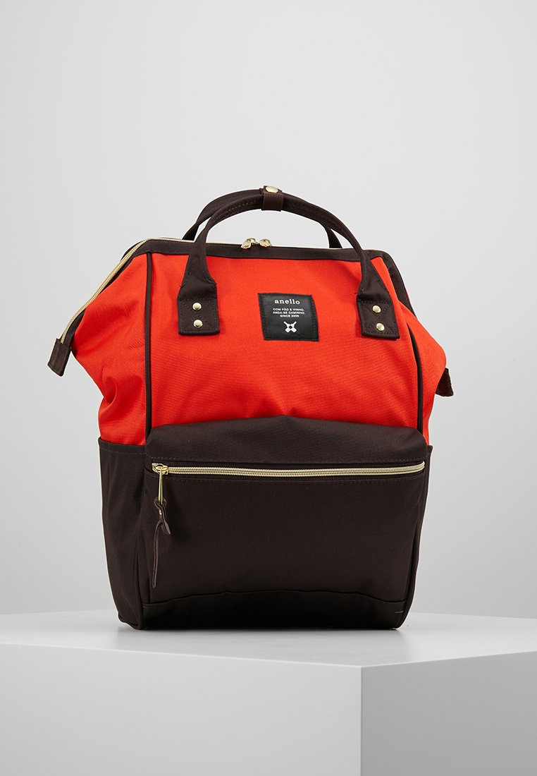anello - BACKPACK PLAIN - Rugzak - orange/dark brown
