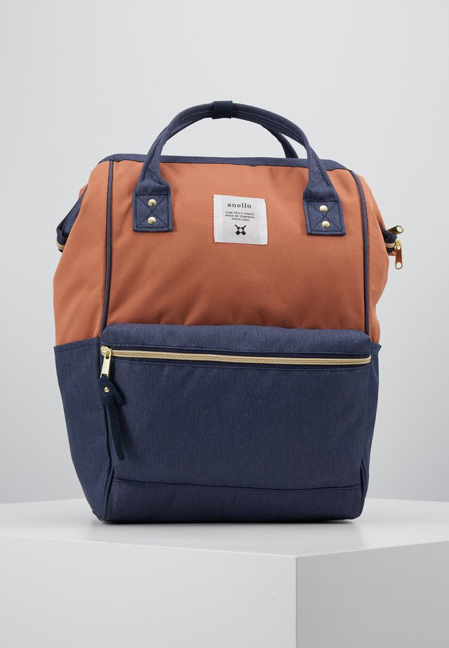 BACKPACK PLAIN - Rucksack - terracotta/navy