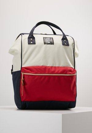 TOTE BACKPACK COLOR BLOCK LARGE - Ryggsäck - ecru red