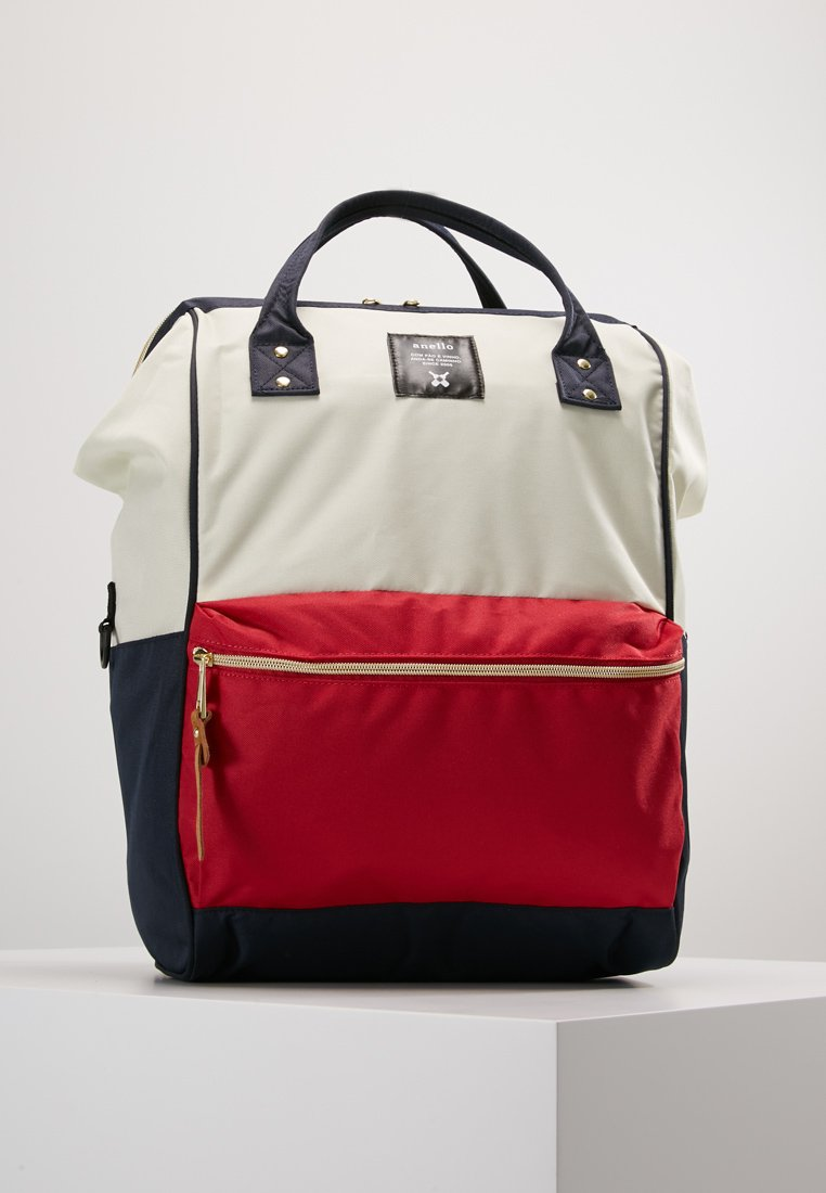 anello - TOTE BACKPACK COLOR BLOCK LARGE - Reppu - ecru red