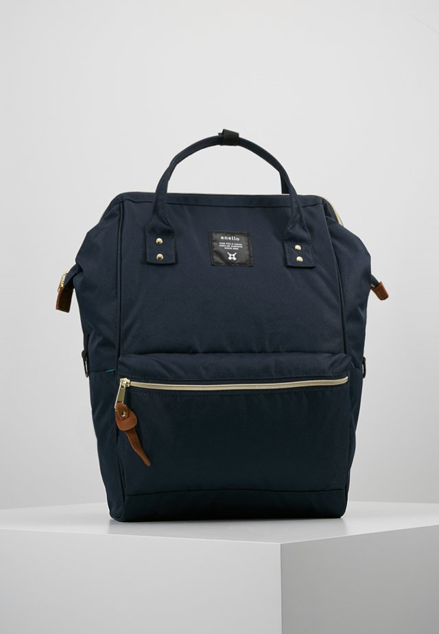 TOTE BACKPACK COLOR BLOCK LARGE - Tagesrucksack - navy