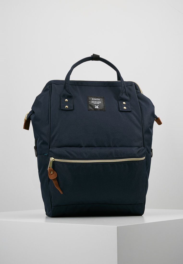 anello - TOTE BACKPACK COLOR BLOCK LARGE - Tagesrucksack - navy