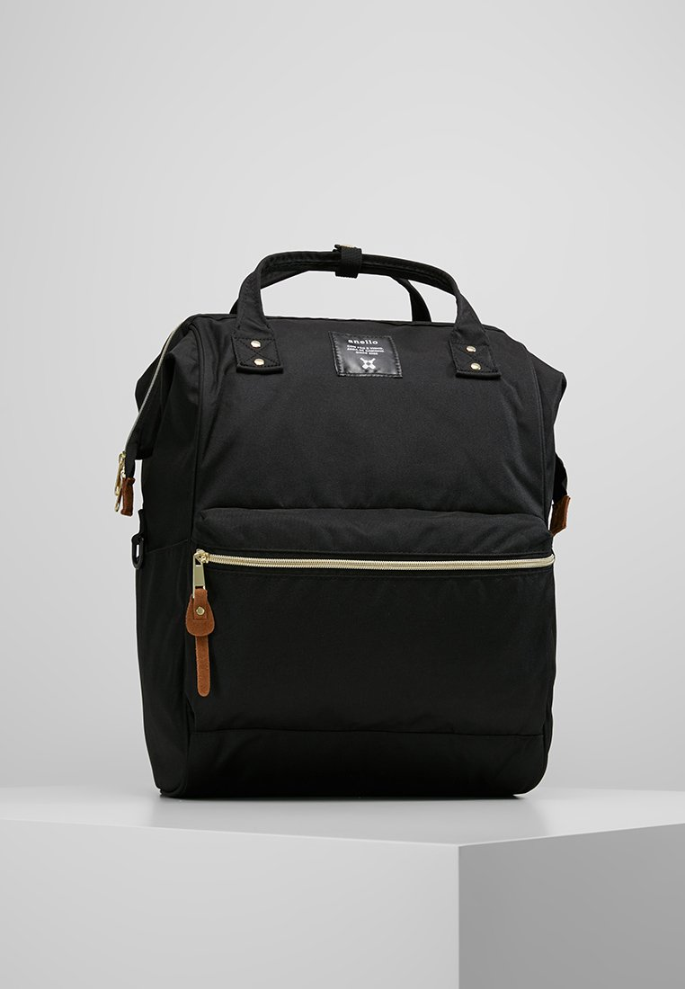 anello - TOTE BACKPACK COLOR BLOCK LARGE - Rugzak - black