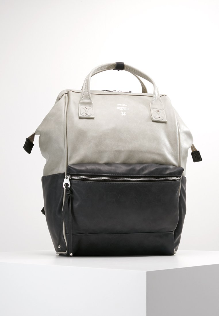 anello - TOTE BACKPACK VEGAN LARGE - Rucksack - grey putty