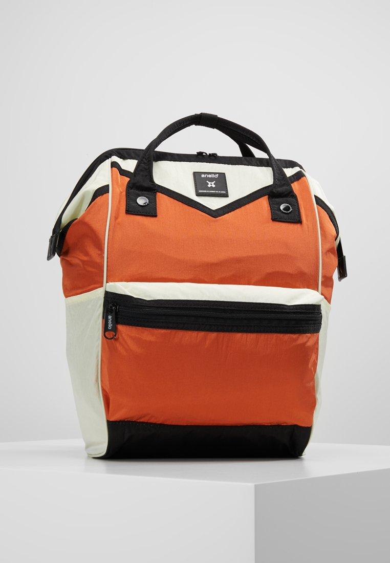 anello - COLOR BLOCK HINGE BACKPACK - Zaino - orange/offwhite