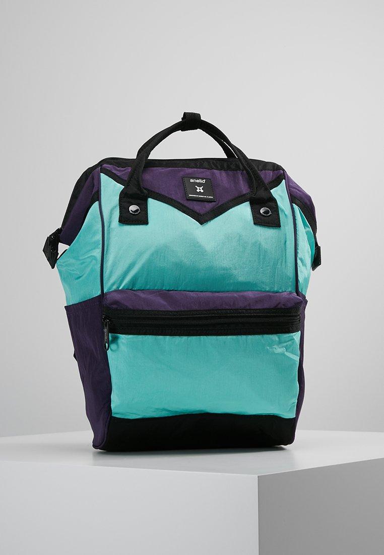 anello - COLOR BLOCK HINGE BACKPACK - Rugzak - blue/purple