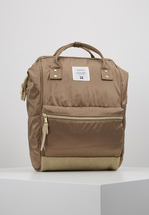 VEGAN BLOCKED BACKPACK  - Reppu - beige