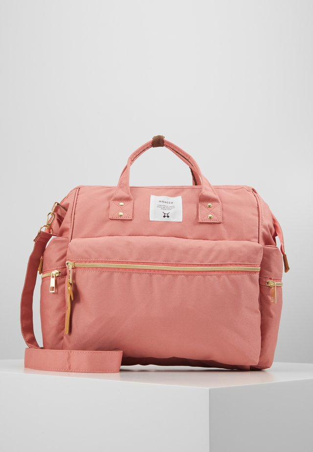 3 WAY SHORT TOTE - Across body bag - nude pink