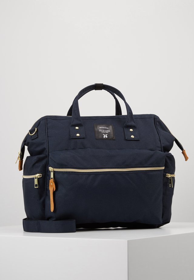 3 WAY SHORT TOTE - Across body bag - navy