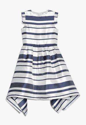 STRIPE SQUARED HEM DRESS - Robe de soirée - white/blue