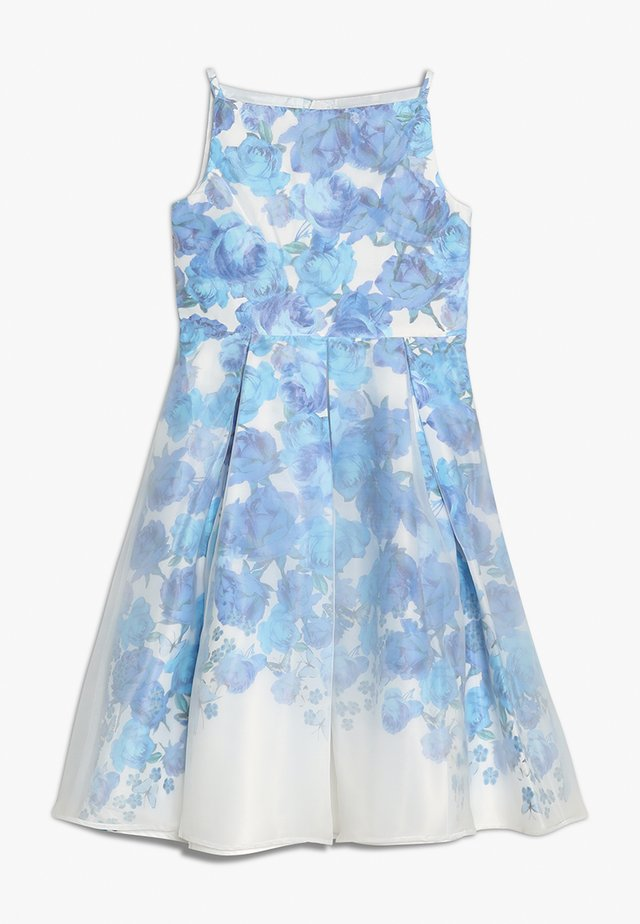 FLORAL OVERLAY DRESS - Vestito elegante - blue