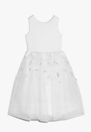 FLORAL SCATTERED DRESS - Vestido de cóctel - silver grey