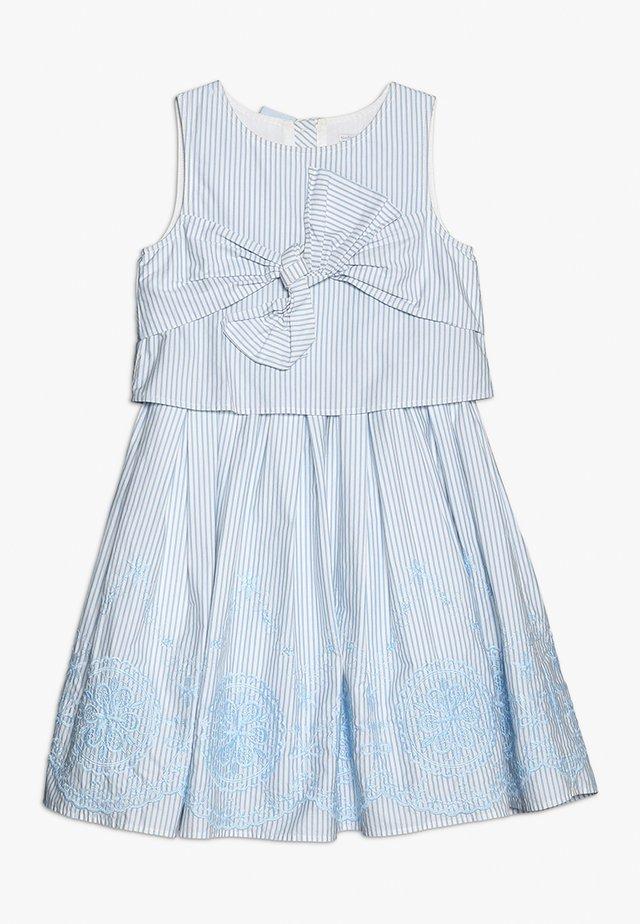 BRODERIE DRESS - Day dress - blue