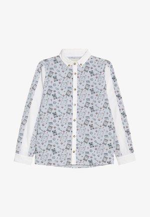 TICKING STRIPE PANELLED - Overhemd - white/blue