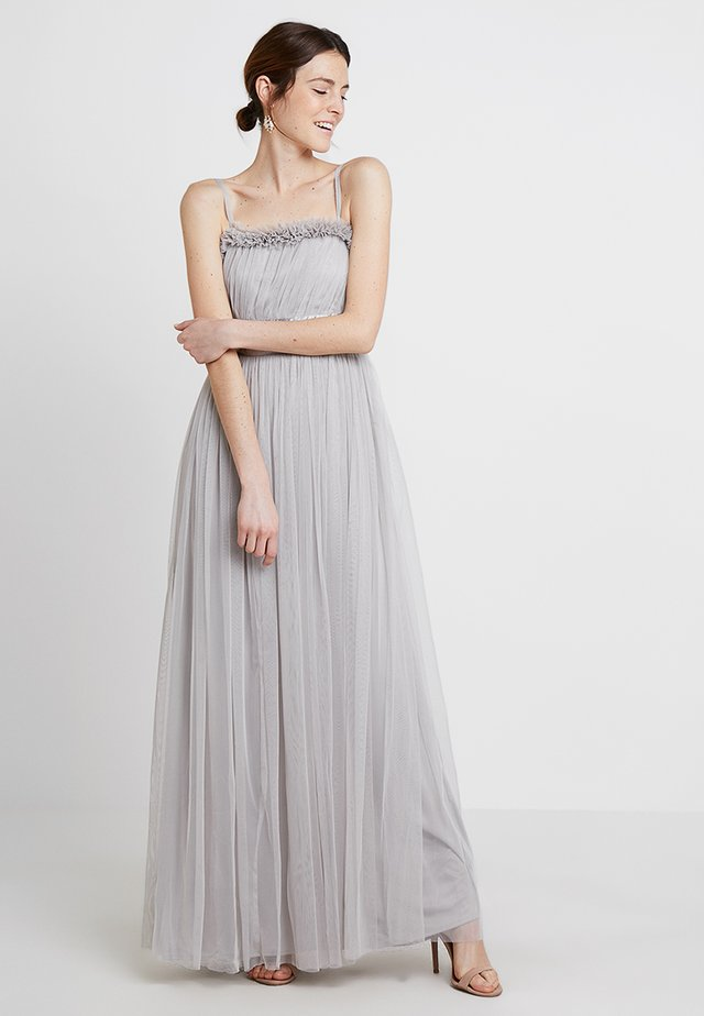 ANAYA WITH LOVE GATHERED TULLE RUFFLE MAXI - Iltapuku - silver