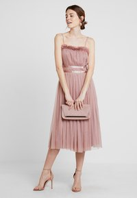 Anaya with love - ANAYA GATHERED RUFFLE MIDI - Cocktailjurk - pearl blush - 2