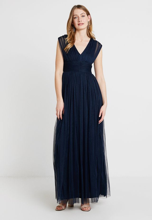 GATHERED MAXI DRESS - Ballkleid - navy