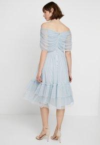Anaya with love - ANAYA WITH LOVE GATHERED BARDOT MIDI DRESS - Vestito elegante - baby blue - 3