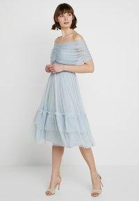 Anaya with love - ANAYA WITH LOVE GATHERED BARDOT MIDI DRESS - Vestito elegante - baby blue - 2