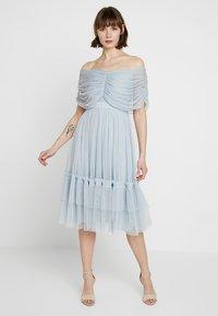 Anaya with love - ANAYA WITH LOVE GATHERED BARDOT MIDI DRESS - Vestito elegante - baby blue - 0