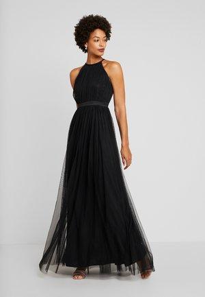 DELICATE HALTER NECK WAISTBAND DRESS - Suknia balowa - black