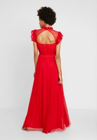 Anaya with love - HIGH NECK GATHERED DRESS WITH RUFFLE DETAILS - Ballkjole - red - 3