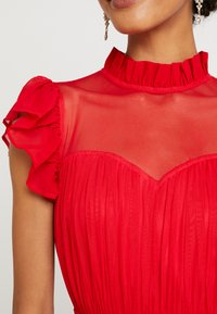 Anaya with love - HIGH NECK GATHERED DRESS WITH RUFFLE DETAILS - Ballkjole - red - 6