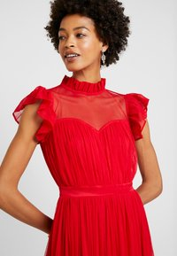 Anaya with love - HIGH NECK GATHERED DRESS WITH RUFFLE DETAILS - Ballkjole - red - 4
