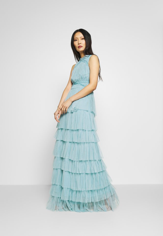 SLEEVELESS TIERED DRESS - Iltapuku - cornflower blue