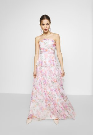 BANDEAU TIERED MAXI DRESS - Occasion wear - white