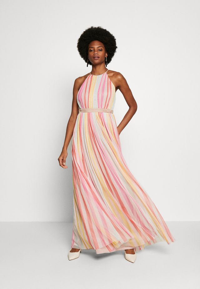HALTER NECK MAXI DRESS - Maxi-jurk - multi stripe