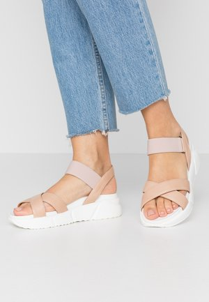 ROLLY - Platform sandals - nude