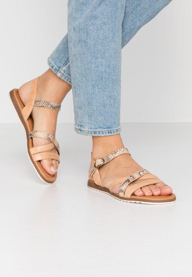 LAUREEN - Sandaalit nilkkaremmillä - beige