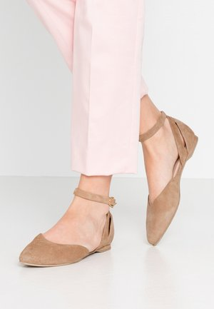 BENY - Ankle strap ballet pumps - taupe