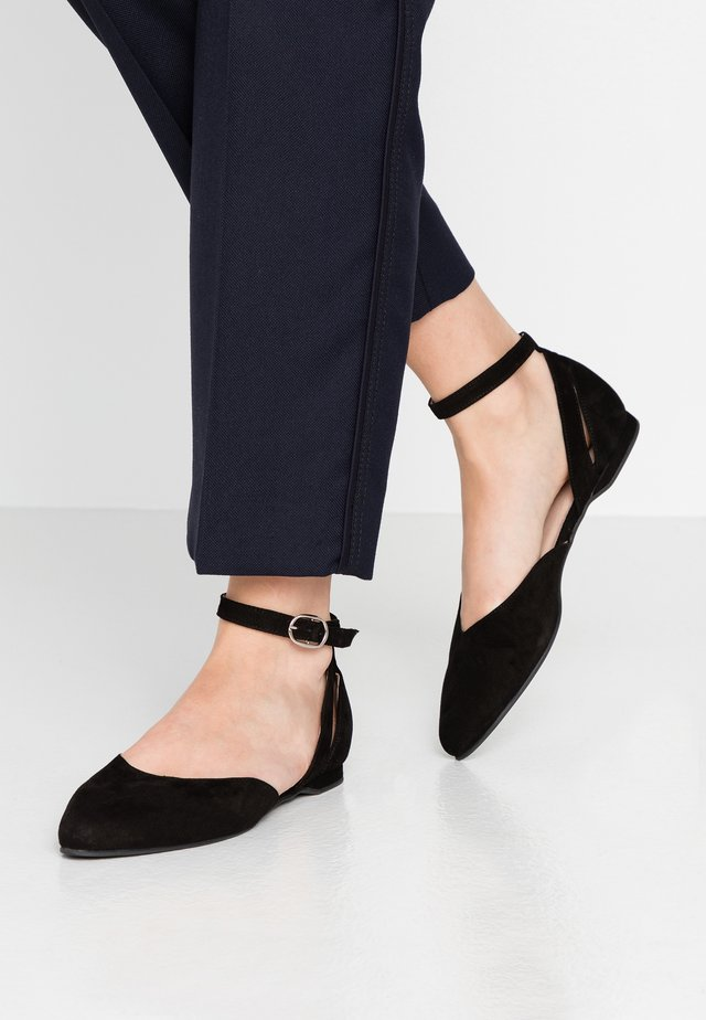 BENY - Ankle strap ballet pumps - black