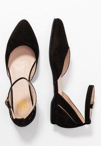 Apple of Eden - BENY - Ankle strap ballet pumps - black - 3