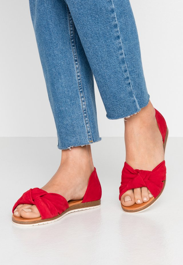 CHELSEA - Peeptoe ballet pumps - red