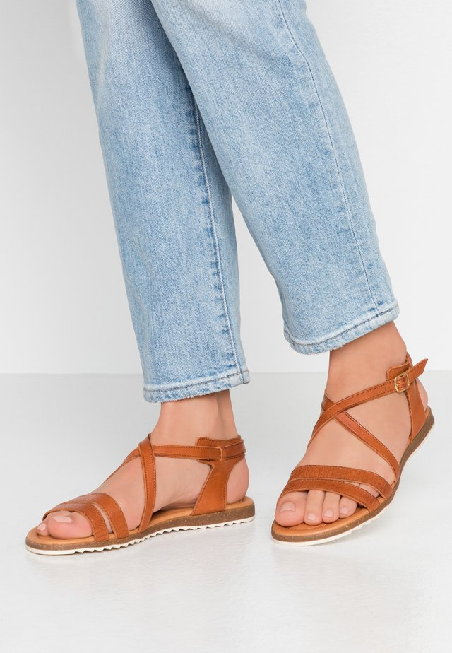 MILA - Sandals - cognac