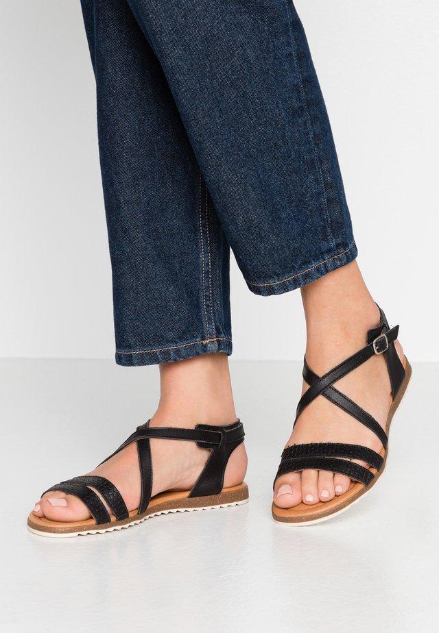 MILA - Sandaalit nilkkaremmillä - black