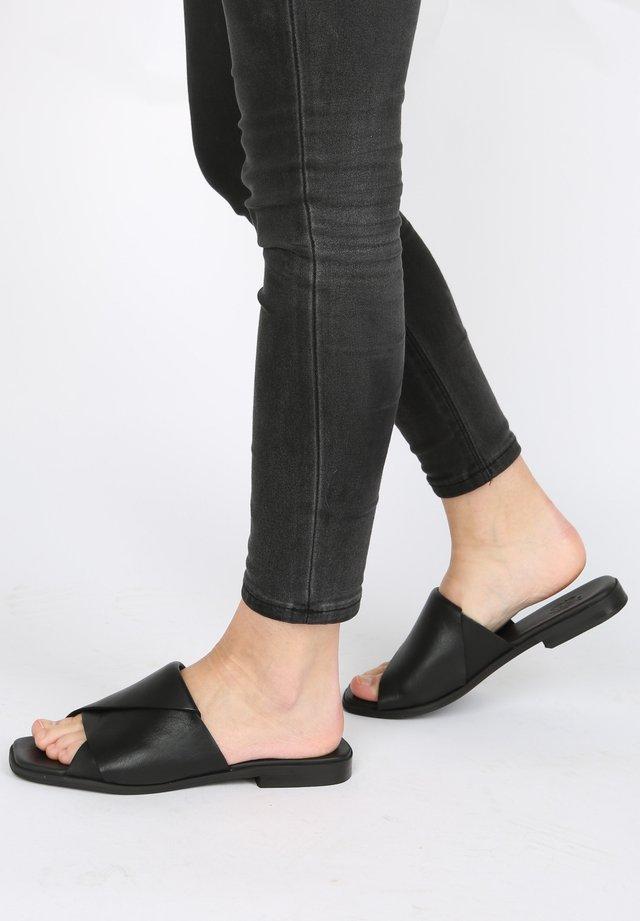 SLIPPER ADRIANE - Pantolette flach - black