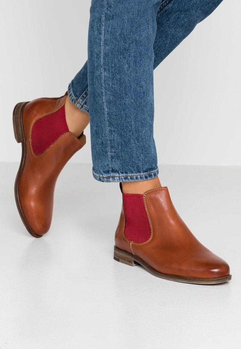 Apple of Eden - MANON - Ankle Boot - cognac